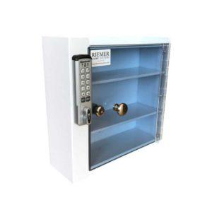 Small Wall Mounted Locking Cabinet - Angle