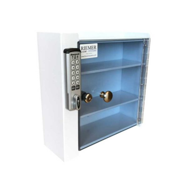 Small Wall Mounted Locking Cabinet - Angle